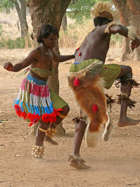 African Tribe Dance Black culture vs.