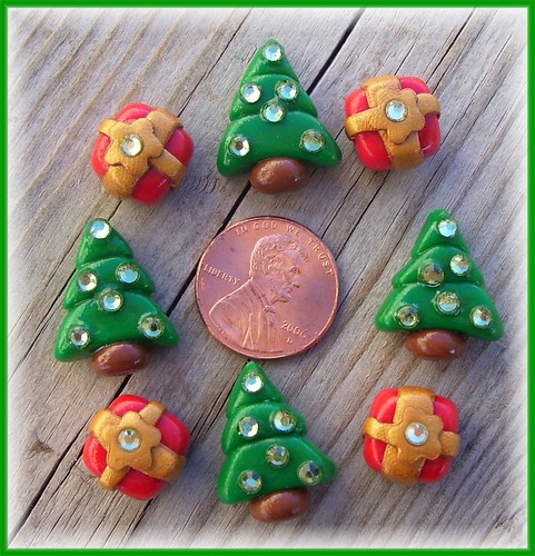 Polymer Clay Beads * Christmas Sparkle