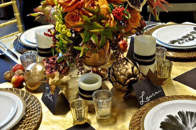 Thanksgiving Table Design Traditional 1-Camille Styles Events