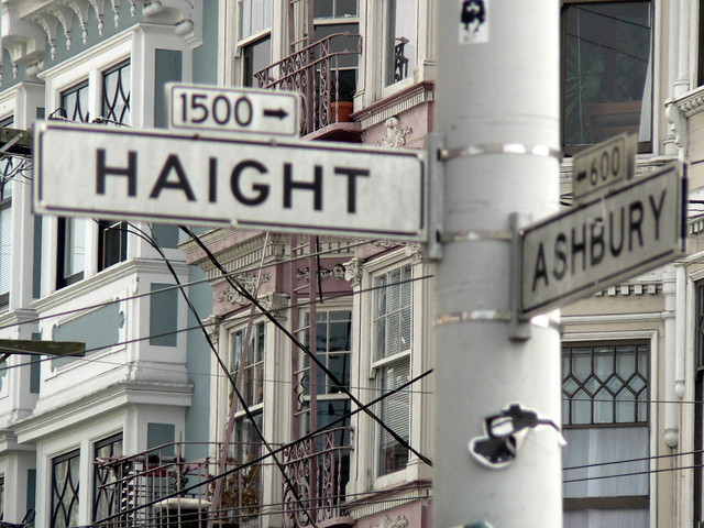 Haight Ashbury corner in San Francisco