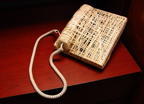 phone wrapped in rubber bands