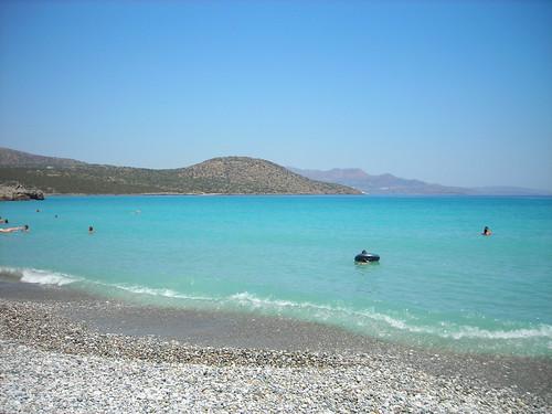 A beautiful beach in Crete
