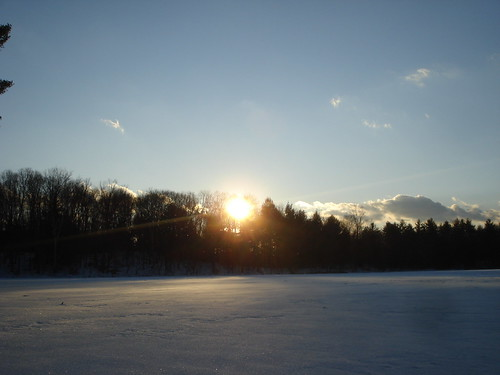 winter sunset northampton massachusetts