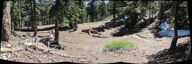 Panorama of Kelly Camp on Sunday after all of the weekend warriors left