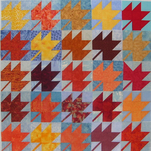 Free Patterns from Sophie Junction: Maple Leaf Blocks
