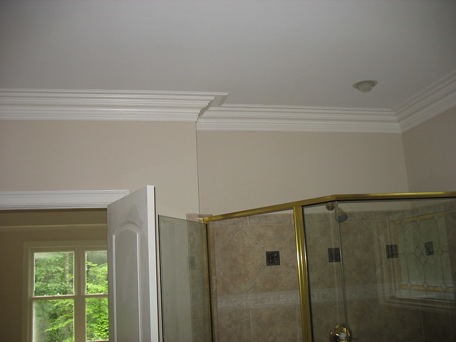 Bathroom with crown molding