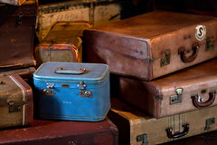 wood, baggage, trunk, antique, suitcase,