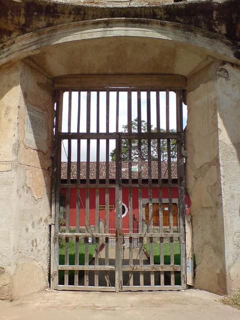 Puerta Del Templo En Ruinas De Santa Teresa Antigua Guate