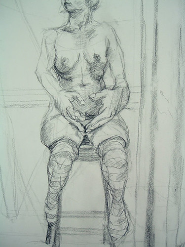 Woman, Naked, with Socks