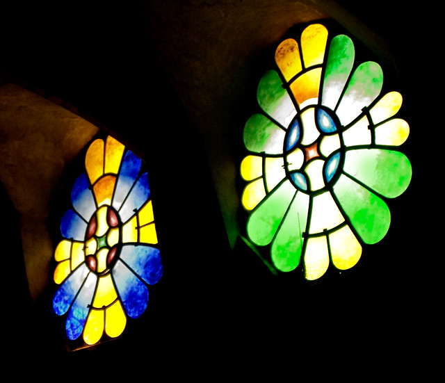 Image result for Gaudi vitral colonia guell images