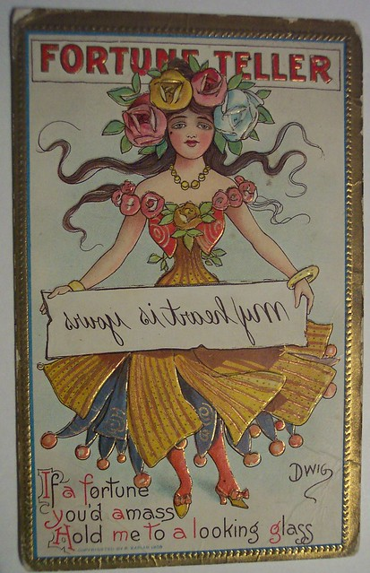 Vintage Fortune Teller Postcard from Flickr via Wylio