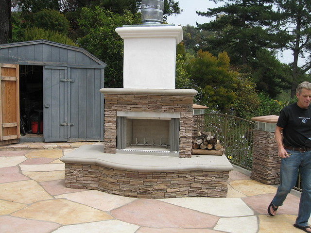 outdoor fireplace flickr photo sharing