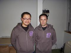 drikin and Evan Williams (at Twitter HQ)