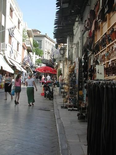 Plaka street scene