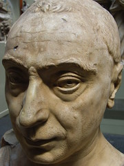 Plaster cast of head