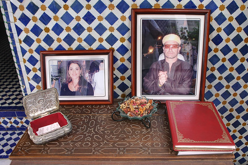 Queen Rania of Jordan and Bono