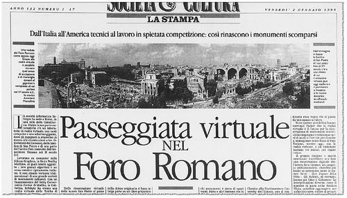 """Prof. James. E. Packer, (ed. it.), Il Foro di Traiano a Roma. Breve studio dei monumenti (Roma 2001). """"[Prof. Packer] Passeggiata virtuale nel Foro Romano [e Traiano],"""" LA STAMPA (02/01/1998), p. 17."""