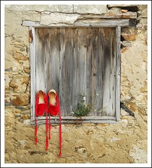 Window and shoes