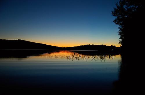 sunset lake water newhampshire nh pemigewasset sunsetcolors lakepemigewasset