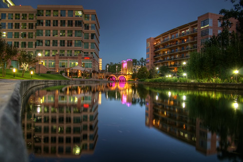 river outdoors town texas dusk hdr highdynamicrange waterway towncenter thewoodlands getrdun motleypixel