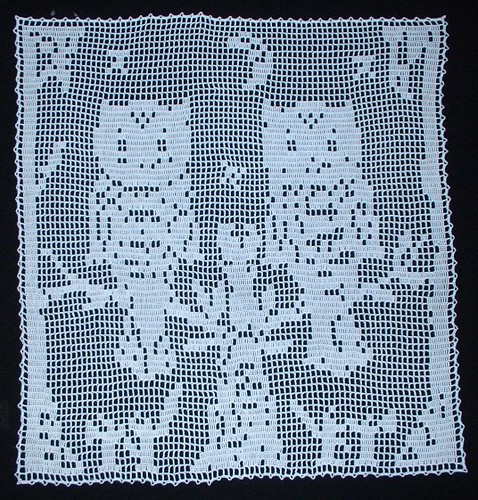 Owl filet crochet