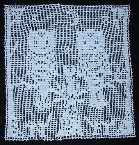 Owl filet crochet Flickr - Photo Sharing!