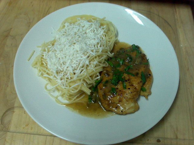Chicken piccata with browned butter angel hair pasta ... Chicken Saltimbocca With Angel Hair