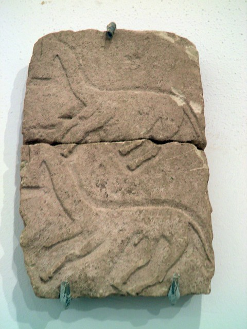 Funerary stele with horses, Archaeological Museum, Seville