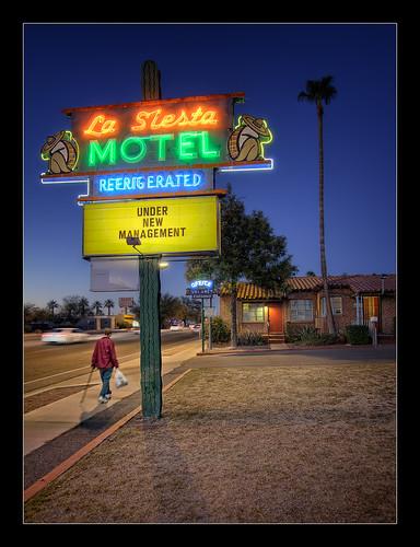 street nightphotography blue arizona architecture canon la twilight neon tucson sigma motel landmark spanish hour siesta roadside 1020mm hdr tileroof revival motorlodge photomatix tonemap pimacounty hdratnight thebestofhdr miraclmile t1i motoristshotel northoracleroad