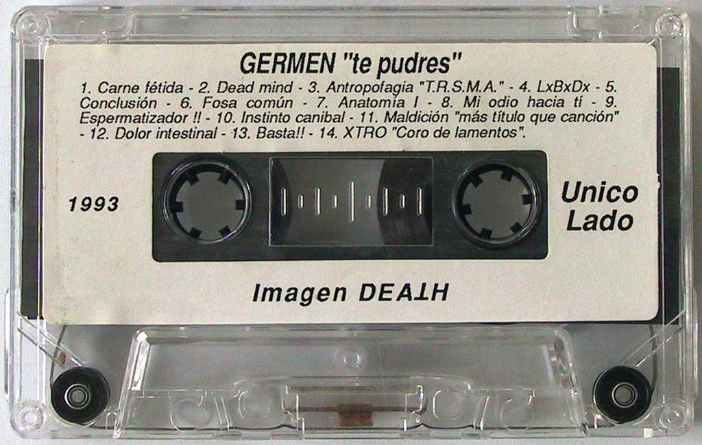 """Maqueta de Germen - """"Te Pudres"""" (del 93)."""