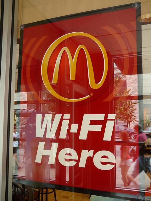 McDonalds Wi-Fi Here