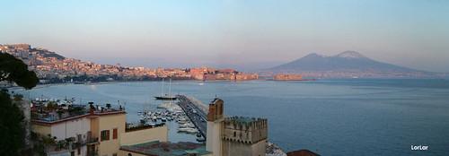 Panoramica Golfo di Napoli e Vesuvio