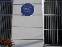 Photo of John Lavery blue plaque