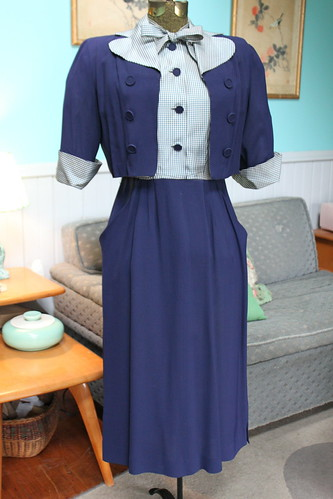 40's dress with jacket
