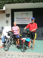 Arriving at the Friendship Bridge Office in Panajachel