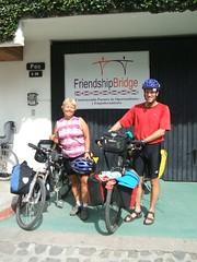 Arriving at the Friendship Bridge Office in Panajachel