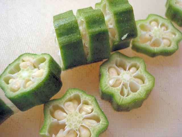 Sliced Okra Flickr Photo Sharing