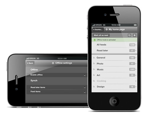 Netvibes mobile offline
