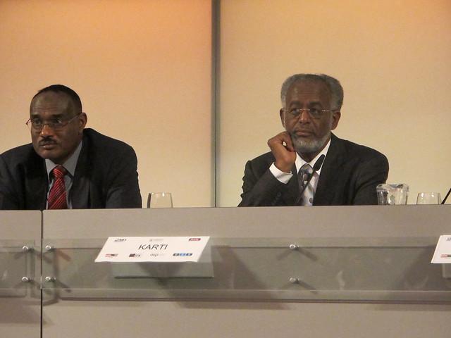 Botschaft Ahmed (NCP) und Außenminister Karti