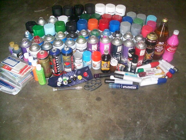 Some of my 'Graff Stash'