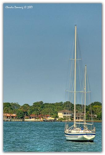 boat florida staugustine hdr canoneosdigitalrebelxt greekmythology sailingboat photomatix aricia canonefs1785mmf456isusm 3exp staugustineinlet