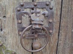 wood, door knocker, iron,