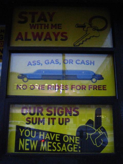 money talks gas for ass