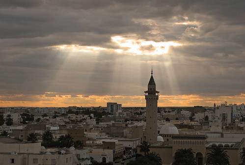 Sunset over Monastir mosque