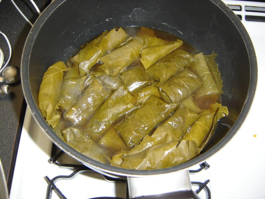 Dolmas Cooking