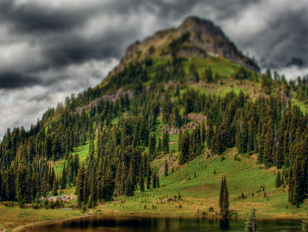 Yakima Peak - HDR and Fake Tilt Shift by KellBailey