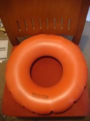 wheel(0.0), personal flotation device(0.0), games(0.0), orange(1.0), furniture(1.0), lifebuoy(1.0), circle(1.0), inflatable(1.0),