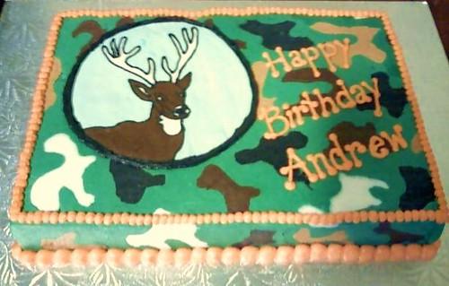 Turkey Hunter Birthday Cake