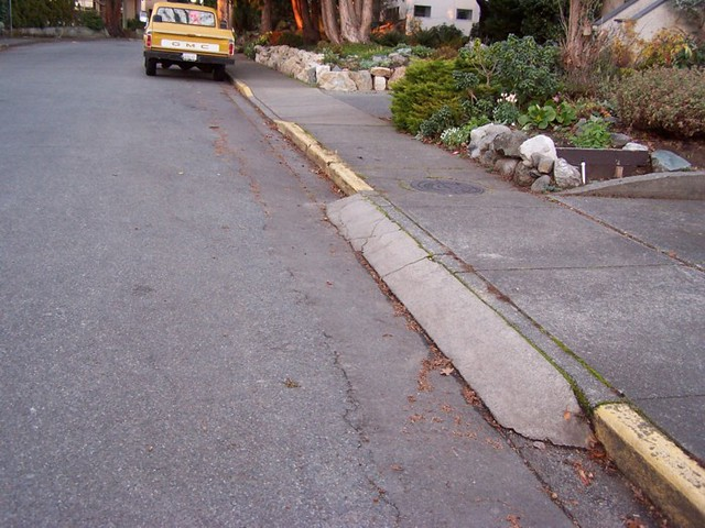 Old Sidewalk With Driveway Curb Mount Flickr Photo