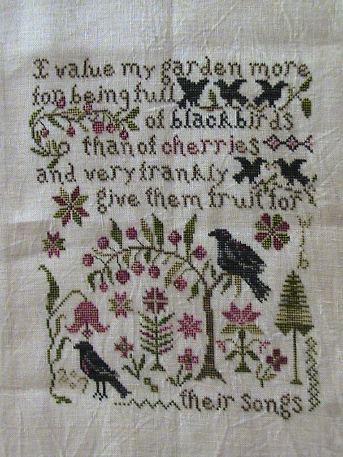 Their song blackbird designs flickr photo sharing for Blackbird designs english garden